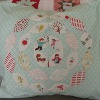 Hand Applique Petals Pillow Case