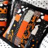 Scrapbusting Strip Pieced Halloween Pillow