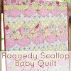 Apple of My Eye Raggedy Scallop Quilt