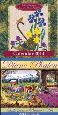 2014 calendars from landauer publishing A Year of Quilts: Our Favorite Seasonal Free Quilt Patterns