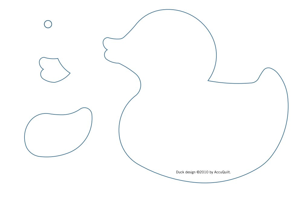 Rubber Duck Template Cut Out http://www.favequilts.com/Applique/Rubber-Duckie-Wall-Quilt-from-Accuquilt