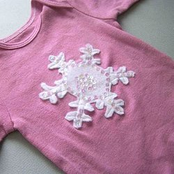 Snowflake and Christmas Tree Applique Onesies