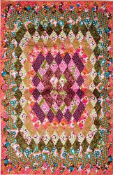 Concentric Diamonds Patchwork Quilt