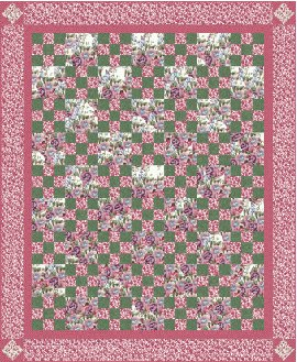 Triple Irish Chain Quilt Pattern – Images of Patterns