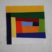Improv Log Cabin Quilt Block