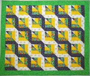 Easy Rail Fence Baby Quilt Pattern - About