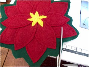 Felt Poinsettia Coasters