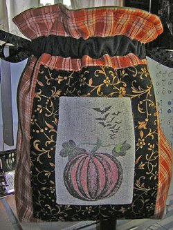 Quilted Drawstring Treat Bag Free Halloween Sewing Patterns