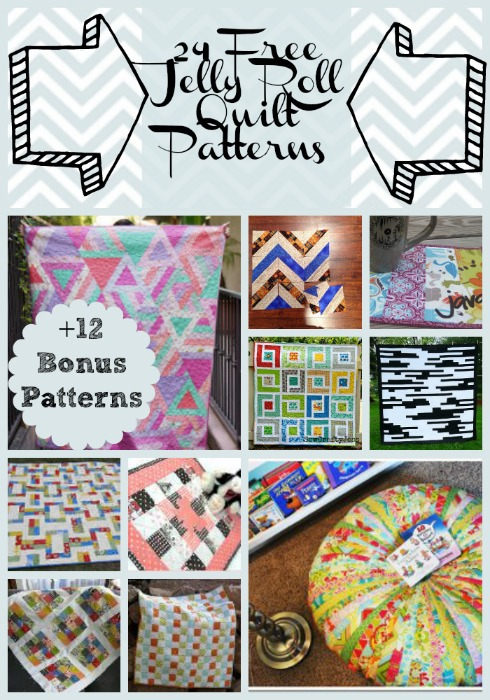 24 Free Jelly Roll Quilt Patterns