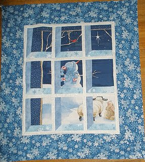 Attic Window Snowman Scene Quilt Favequilts Com