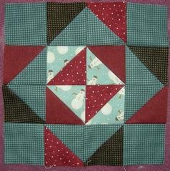Zigzag Snowflake Patchwork Pillow