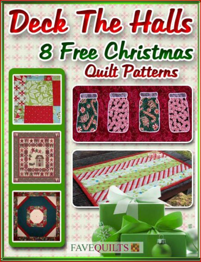 Deck the Halls: 8 Free Christmas Quilt Patterns Free eBook