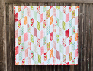 Striped Chevrons Baby Quilt Tutorial