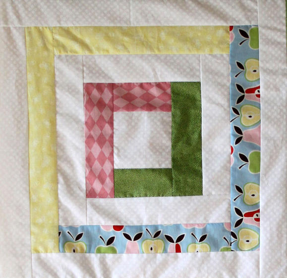 Pretty Pastels Log Cabin Baby Quilt Favequilts Com