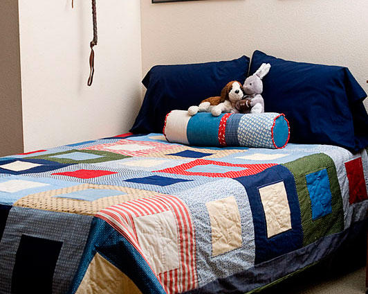 Sleeping on Squares Bed Quilt