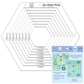 you hexie thing hexagon ruler 275 Shaping Up Your Quilt Patterns: Learn How to Make a Quilt with Your Favorite Shapes